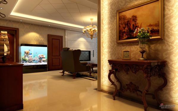 古典壁画与地柜,金色壁纸,品质生活秀