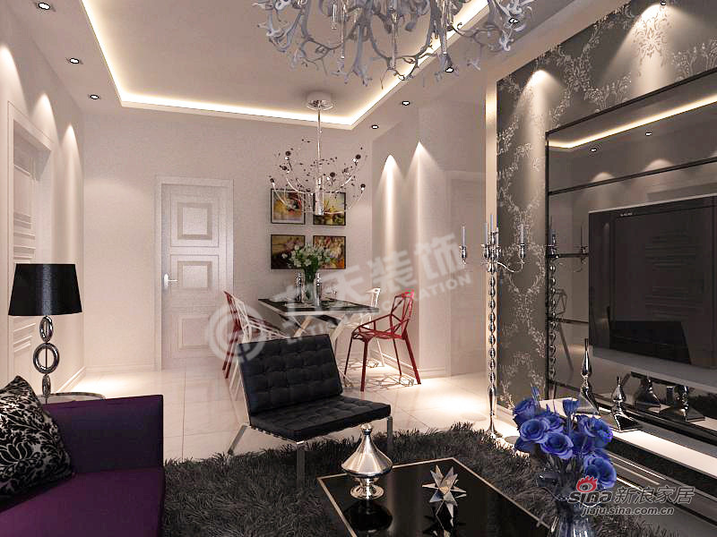 简约 二居 客厅图片来自阳光力天装饰在华城浩苑-2室2厅1厨1卫-现代简约17的分享