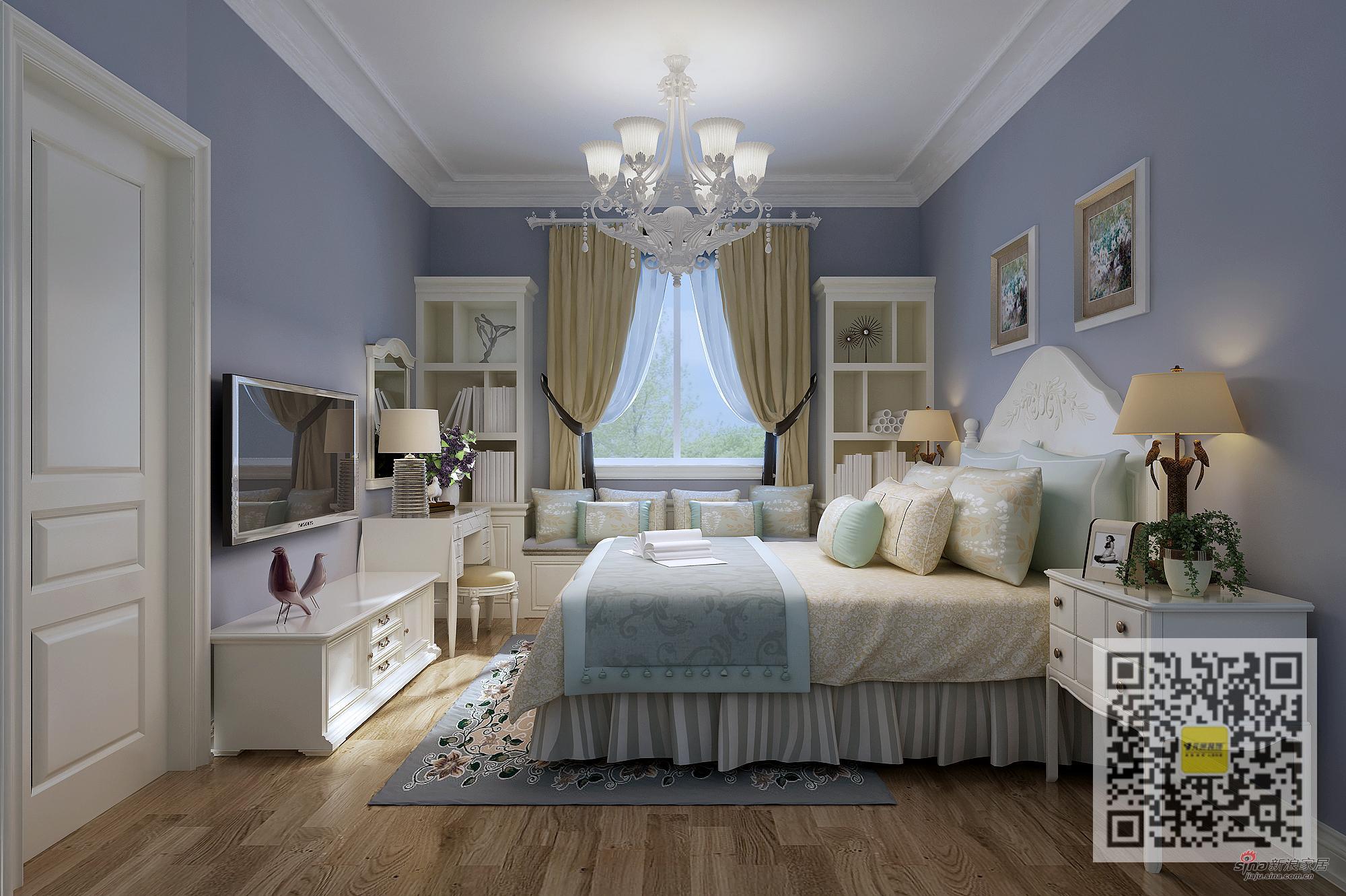 欧式 别墅 卧室图片来自用户2746869241在欧式风格别墅设计76的分享