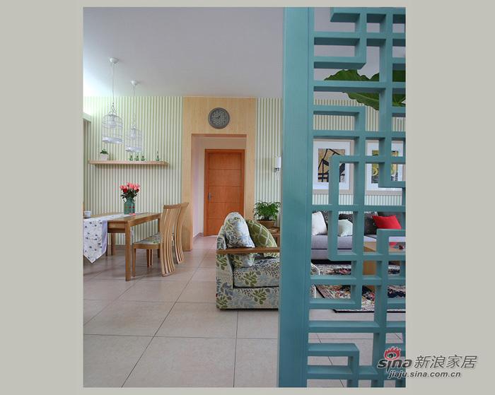 中式 三居 客厅图片来自用户1907659705在153平现代中式清新大三居55的分享