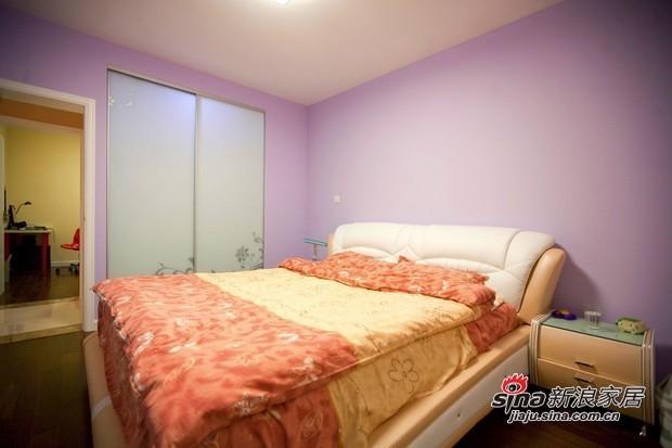 简约 二居 卧室图片来自用户2738820801在90平清新爽朗亮色3居温馨爱家86的分享