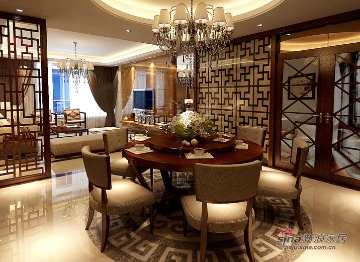 新古典 三居 餐厅图片来自用户1907701233在131平现代中式风格美家95的分享