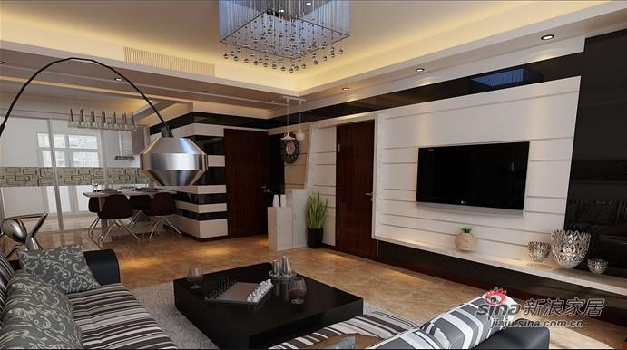 简约 三居 客厅图片来自用户2558728947在9.29万打造【东辉明珠园】145平 现代简约 三居38的分享