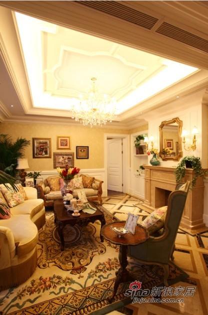 欧式 别墅 客厅图片来自用户2746869241在浪漫法式风情豪宅55的分享