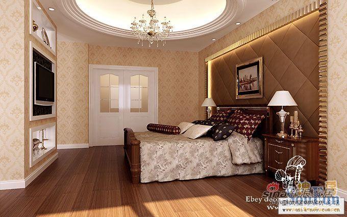 欧式 二居 卧室图片来自用户2757317061在90平米多图简欧风格两居36的分享