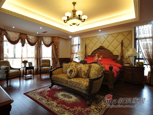 美式 复式 卧室图片来自用户1907686233在【多图】美式乡村风格34的分享