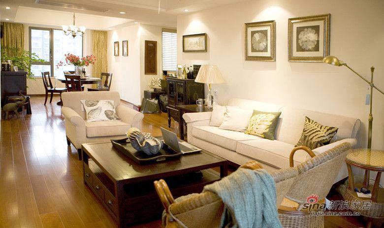 美式 三居 客厅图片来自装修微日记在【高清】9万装130平美式乡村悠闲居94的分享