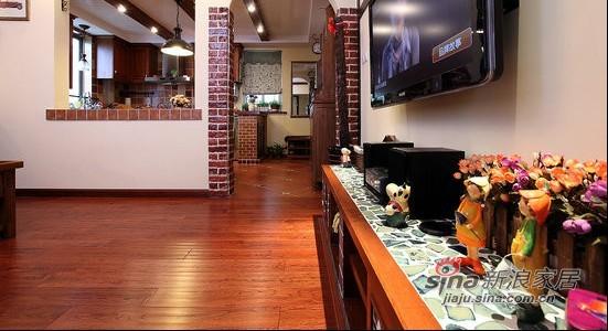 美式 一居 客厅图片来自用户1907685403在留美海归69平美式风情小户20的分享