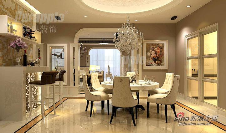 欧式 别墅 餐厅图片来自用户2745758987在保利叶语232平米别墅装修设计21的分享