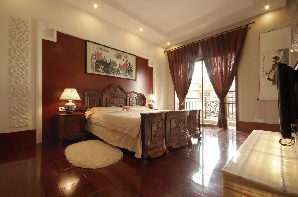 中式 别墅 卧室图片来自用户1907659705在尽显 中式情节27的分享