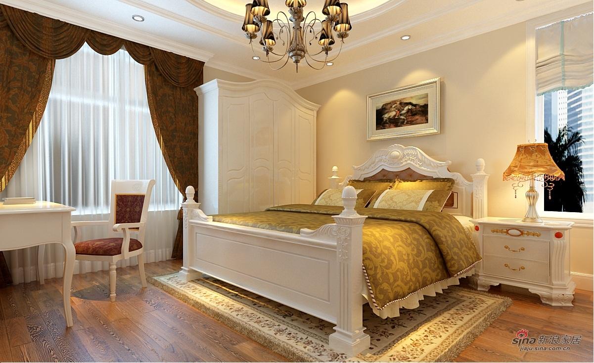 欧式 四居 卧室图片来自用户2746953981在130平简欧风格装修56的分享