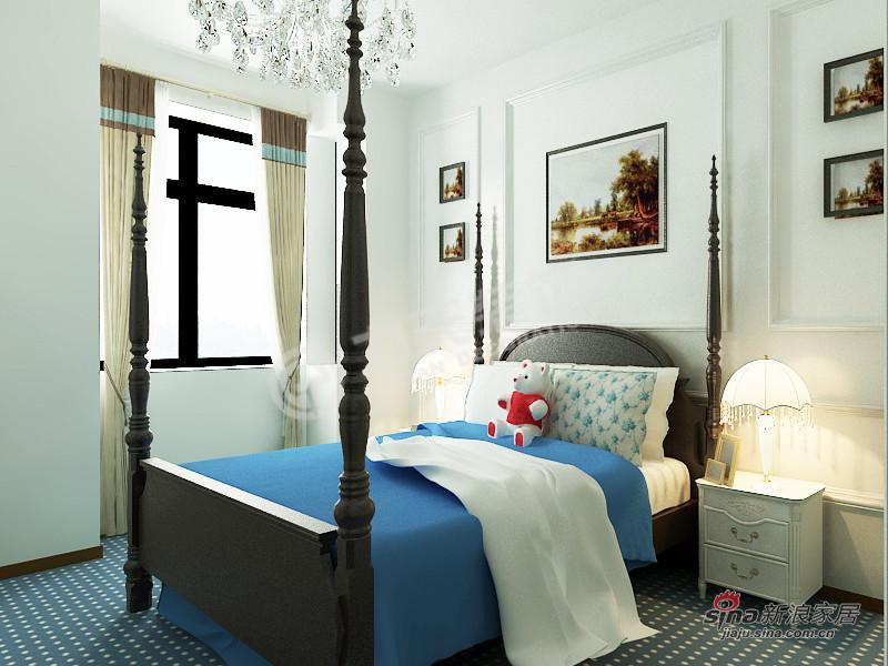 地中海 四居 卧室 公主房图片来自阳光力天装饰在4室2厅地中海风格家居84的分享