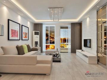 后现代城-两室两厅80㎡-现代简约风格58