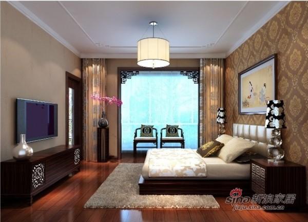 元洲案例龙邸(龙城花园五期)主卧室效果图