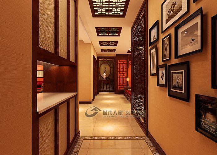 中式 三居 玄关图片来自城市人家犀犀在天津城市人家 中式风情51的分享
