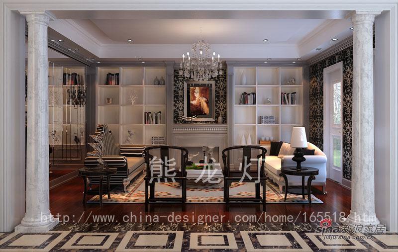 混搭 别墅 客厅图片来自用户1907655435在格拉斯小镇-熊龙灯58的分享