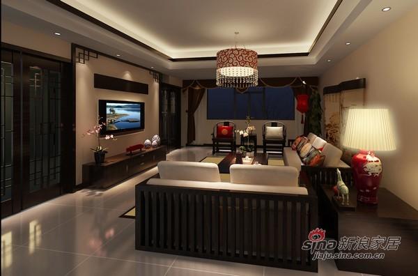 中式 三居 客厅图片来自用户1907661335在5.2万装现代中式恬静中式3居41的分享