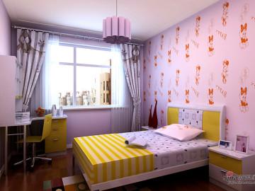 128平甜蜜色彩三居室31