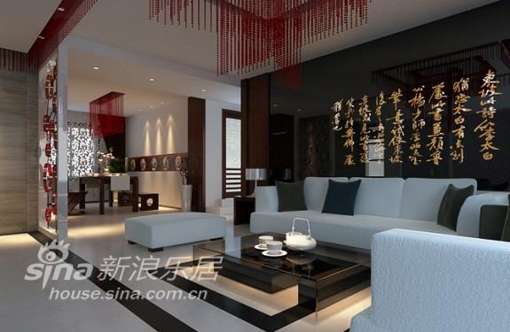 中式 别墅 客厅图片来自用户1907659705在儒雅中式与时尚简约的完美结合42的分享