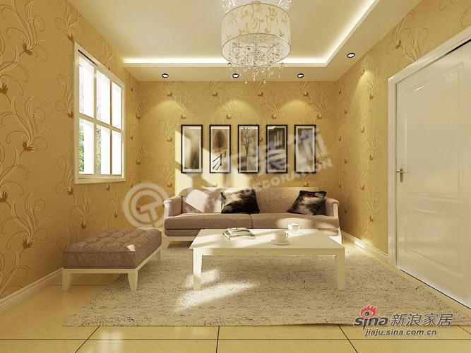 简约 别墅 客厅图片来自阳光力天装饰在宝安江南城别墅A户型478.88㎡现代简约44的分享