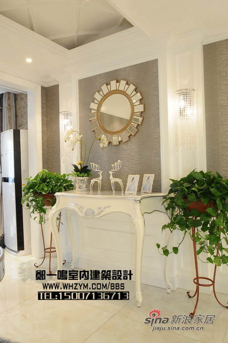 欧式 复式 玄关图片来自郑一鸣室内建筑设计工作室在300平明亮花样美居光与影的奏鸣48的分享