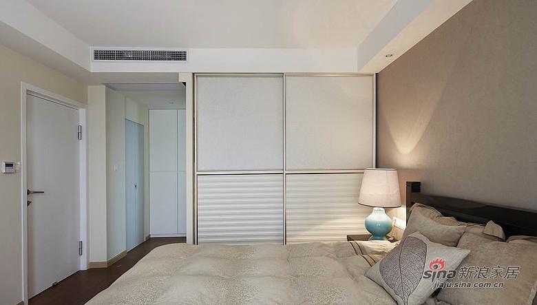 简约 三居 卧室图片来自装修微日记在【高清】7万装120平淡妆素抹简约屋38的分享