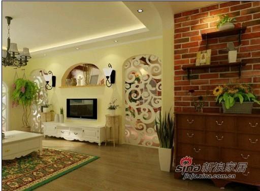 田园 二居 客厅图片来自用户2737791853在首城国际80平米田园风情12的分享