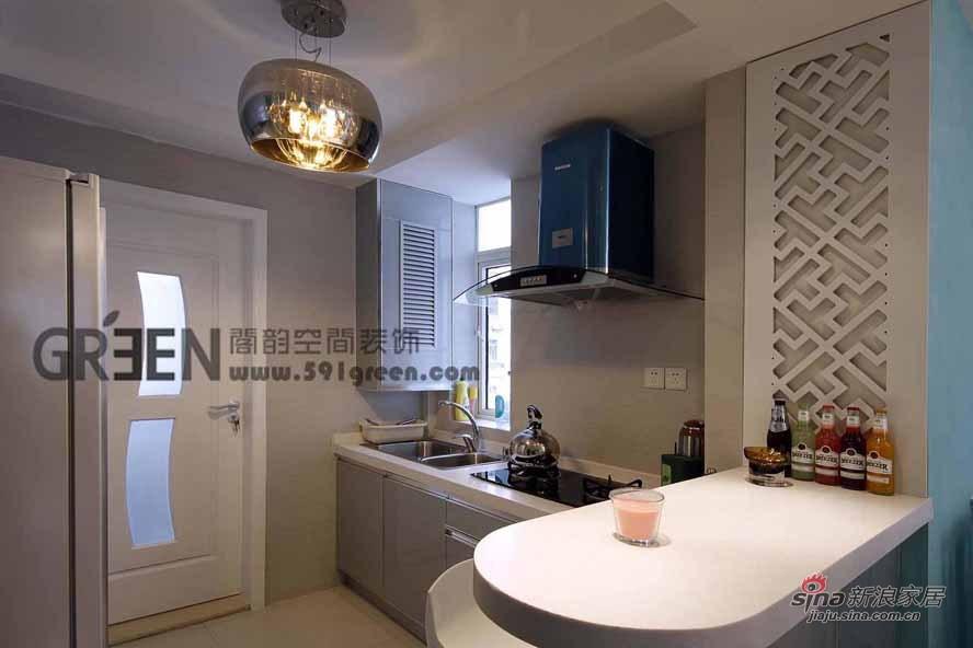 简约 二居 厨房图片来自阁韵空间装饰在北欧爱琴海44的分享