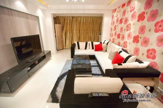 简约 二居 客厅图片来自用户2738820801在90平清新爽朗亮色3居温馨爱家86的分享