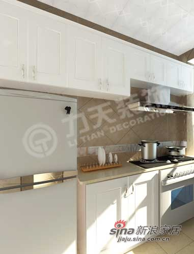 简约 二居 厨房图片来自阳光力天装饰在天鹅湖1号84平米现代简约32的分享
