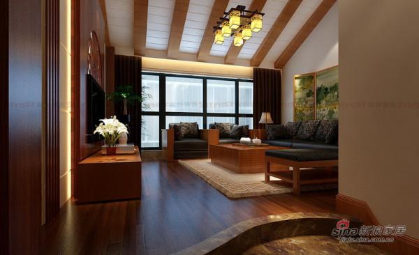 179平大户型复式欧式中式混搭 二层客厅