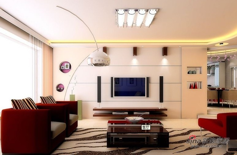 简约 二居 客厅图片来自用户2737759857在怡众名城145平现代简约三居室93的分享