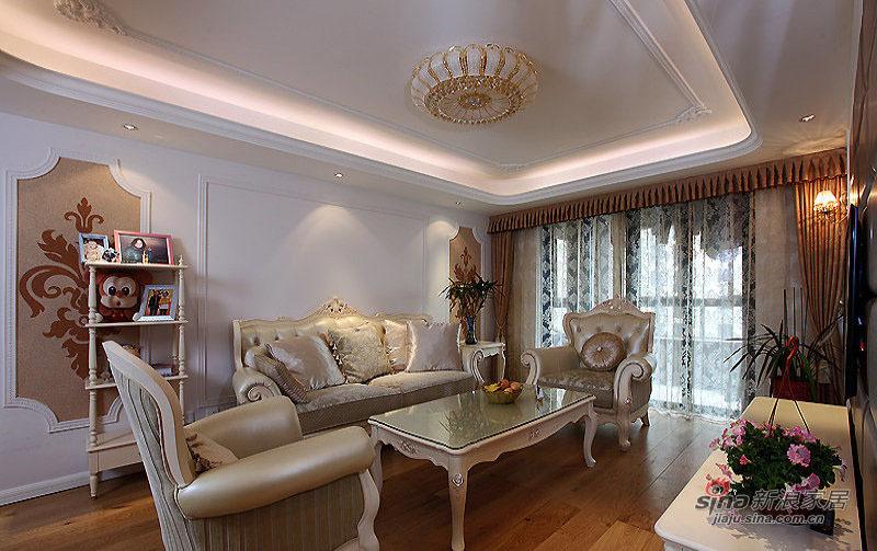欧式 三居 客厅图片来自装修微日记在【高清】9万打造124平欧式风情三居49的分享