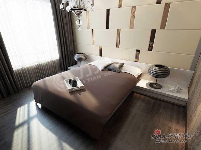 简约 二居 卧室图片来自阳光力天装饰在景瑞阳光尚城91.8㎡现代简约25的分享