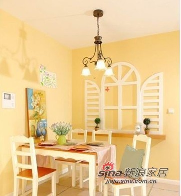 田园 公寓 餐厅图片来自用户2737946093在90平米房屋田园风格装修60的分享