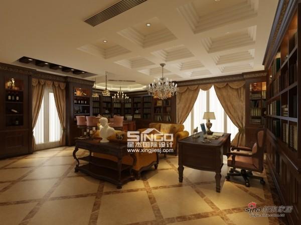 星杰国际设计60万装300㎡别墅欧式风格