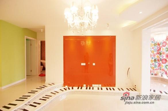 混搭 三居 客厅图片来自用户1907689327在10万装87平时尚多彩三居小错层79的分享