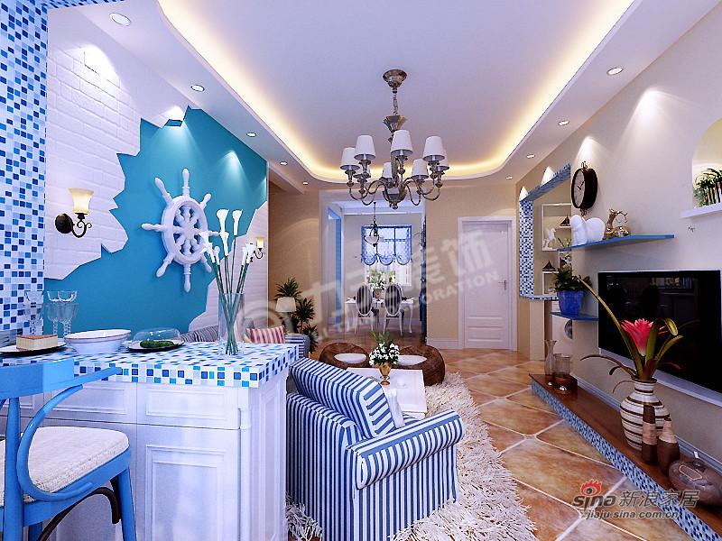 地中海 二居 客厅 舒适 白领图片来自阳光力天装饰在两室两厅地中海风格美家68的分享