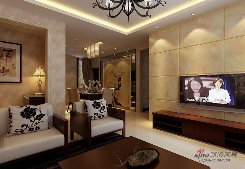 中式 复式 客厅图片来自用户1907696363在通州260平自建复式现代中式设计84的分享