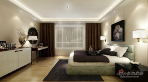 中式 四居 卧室 白富美图片来自用户1907696363在天鹅湖190平米-四室两厅-现代中式54的分享