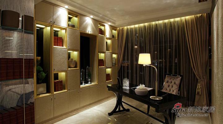 简约 三居 书房图片来自用户2738845145在119平现代简约装修设计案例76的分享