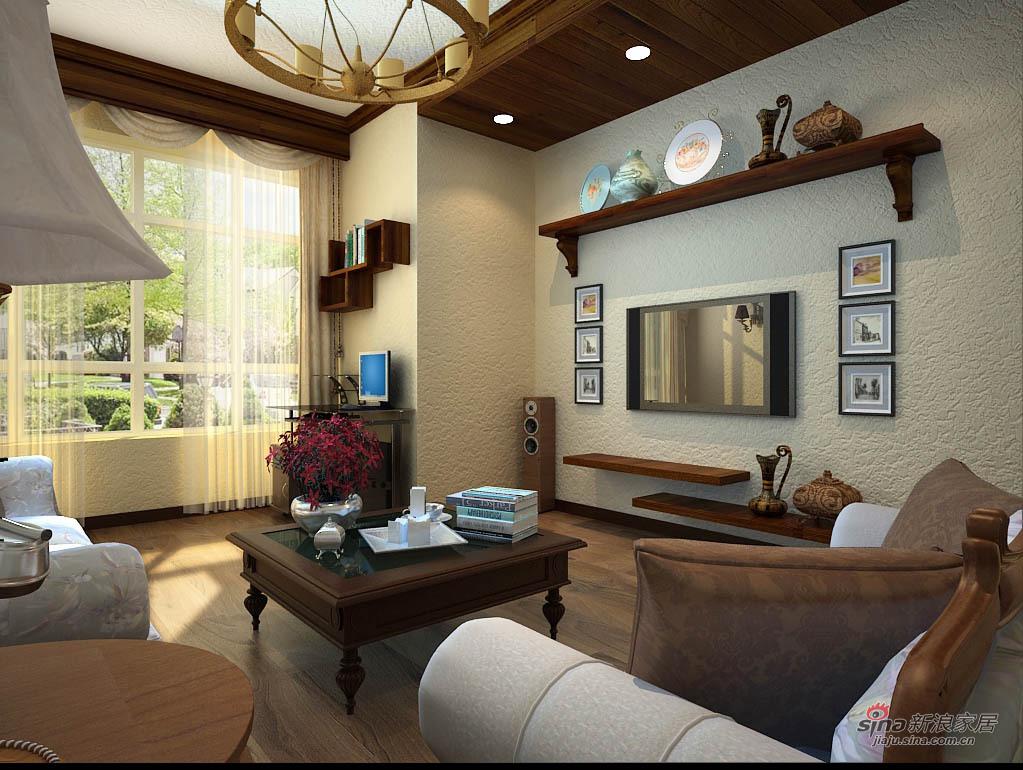 混搭 二居 客厅图片来自用户1907689327在两居随心混搭风格12的分享