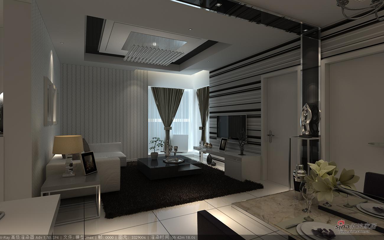 其他 二居 客厅图片来自用户2771736967在强烈黑白搭配创造不同空间领域23的分享