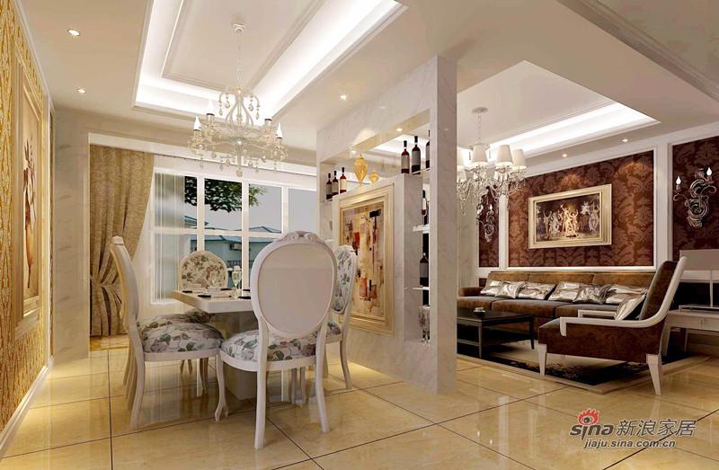 欧式 复式 餐厅图片来自用户2772856065在128平欧式高贵典雅3居室爱家44的分享