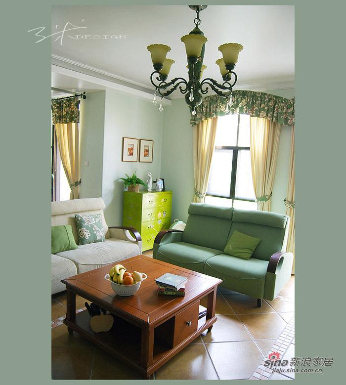 简约 三居 客厅图片来自用户2738813661在准妈妈豪掷16万装120平清雅田园3居86的分享