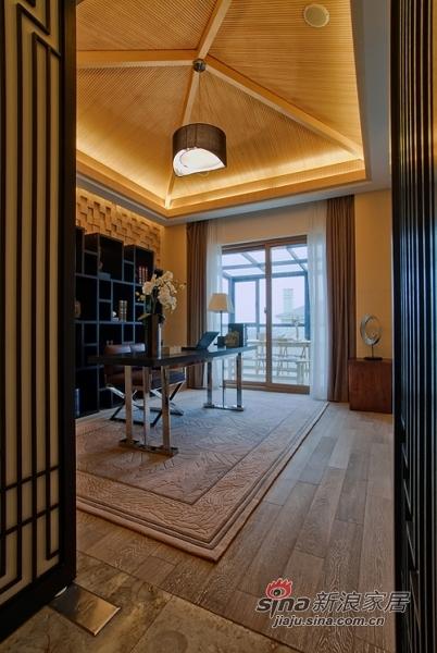 中式 别墅 书房图片来自用户1907659705在【多图】新潮中式风格55的分享