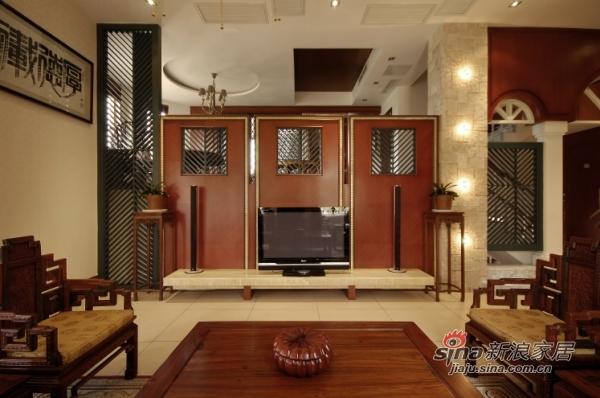 中式 别墅 客厅图片来自用户1907662981在320平古韵悠远中式风格别墅35的分享