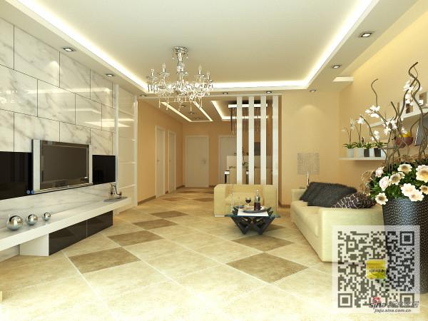 130平米两居室简欧风格装修案例