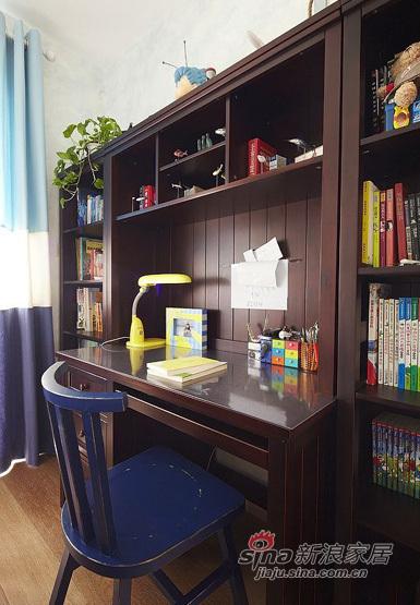 美式 三居 书房图片来自用户1907685403在140平美式风格三居室39的分享