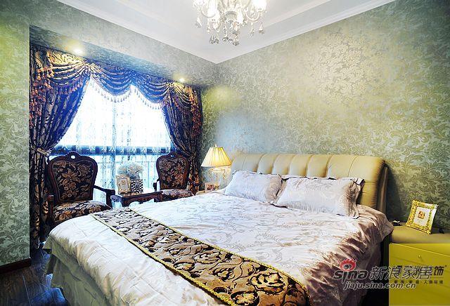 欧式 三居 卧室图片来自用户2746889121在简欧风格130平米实景高清大图49的分享